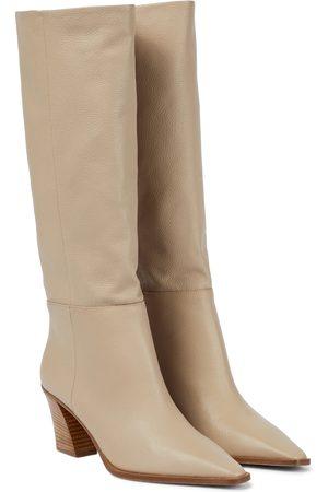 Aquazzura Women Thigh High Boots - Matisse 70 leather knee-high boots