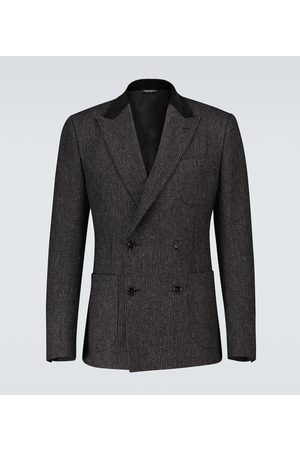 Dolce & Gabbana Double-breasted cotton-blend blazer