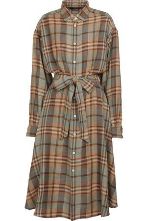 Polo Ralph Lauren Checked wool shirt dress