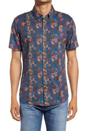 BONOBOS Men's Riviera Cotton Knit Short Sleeve Button-Down Shirt