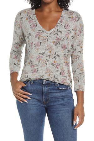 Bobeau Women's Cozy Shirttail Top
