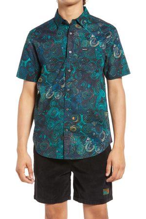 Gotcha Men Short sleeves - Men's Smithson Swirl Print Short Sleeve Button-Up Shirt