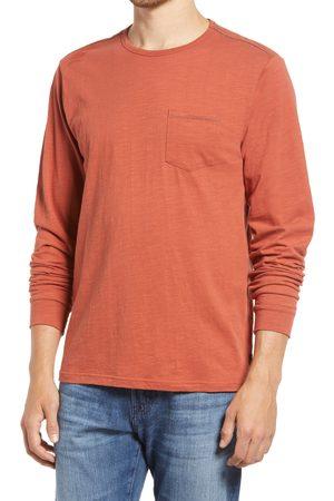 Roark Revival Men's Well Worn Organic Cotton Long Sleeve Pocket T-Shirt