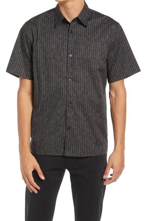 THEORY Men's Noll Scribble Short Sleeve Stretch Cotton Button-Up Shirt