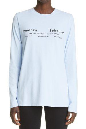 Proenza Schouler Women's Tie Dye Long Sleeve Stretch Cotton T-Shirt