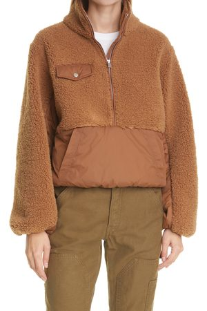 Frame Women's Faux Fur & Faux Leather Pullover