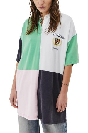 BDG Urban Outfitters Women's Crest Splice Polo Tunic