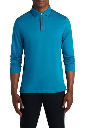 Bugatchi Men's Pima Cotton Long Sleeve Polo Shirt