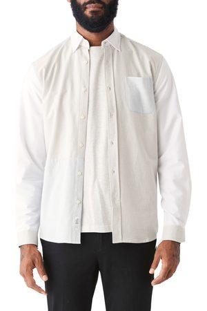 FRANK AND OAK Men's Jasper Patchwork Stripe Organic Cotton Oxford Button-Up Shirt
