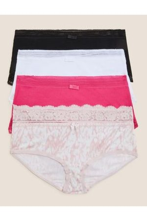 Marks & Spencer 4pk Cotton High Rise Knicker Shorts