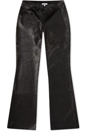Miaou Men Leather Pants - Leather Elvis Flare Pant