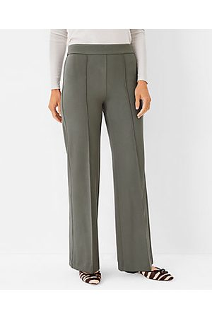 Ann Taylor Women Straight Leg Pants - The Side Zip Straight Pant