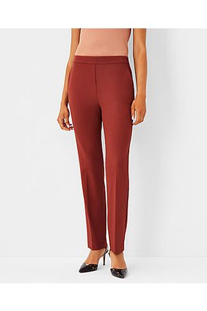 Ann Taylor Women Stretch Pants - The Petite High Rise Side Zip Straight Leg Pant in Bi-Stretch