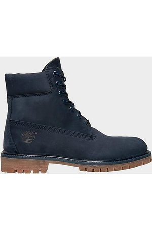 Timberland Men Boots - Men's 6 Inch Premium Waterproof Boots in /Navy Size 7.5 Leather