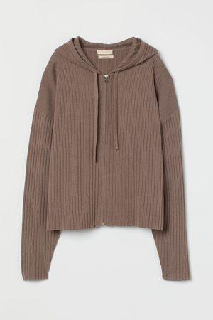 H & M Women Sweats - Cashmere-blend Zip-up Hoodie