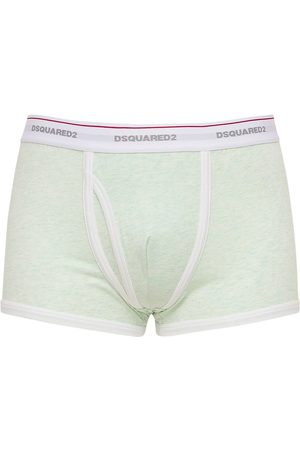 DSQUARED2 UNDERWEAR Logo Cotton Jersey Boxer Briefs