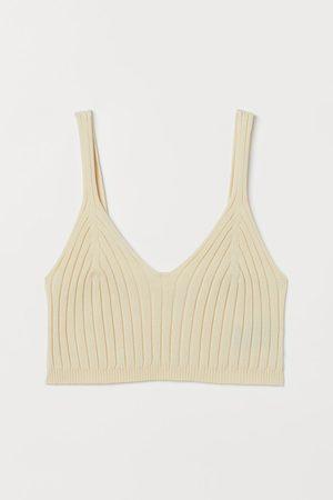 H&M Women Crop Tops - Rib-knit Crop Top