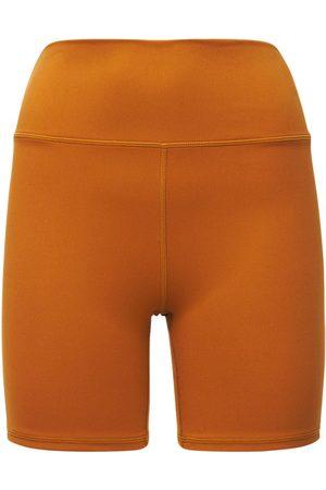 WEWOREWHAT Women Sports Shorts - High Waist Biker Shorts