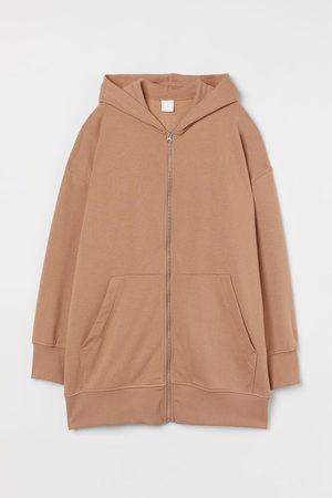 H & M Long Hooded Sweatshirt Jacket