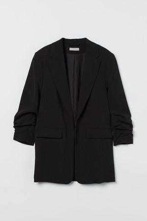 H & M Gathered-sleeve Jacket