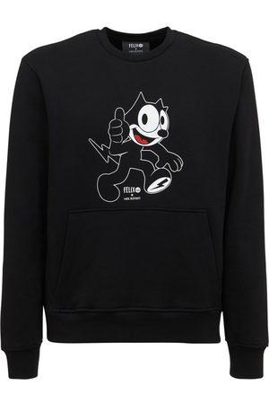 NEIL BARRETT Felix The Cat Print Jersey Sweatshirt