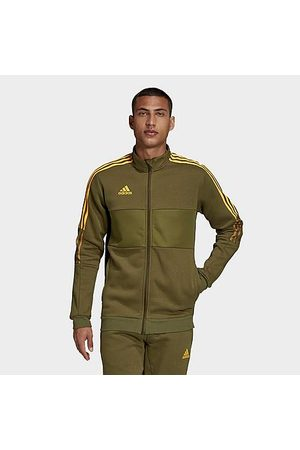 Adidas Men's Badge of Sport Winterized Tiro Track Jacket in /Focus Olive Size Small Cotton/Polyester/Fleece