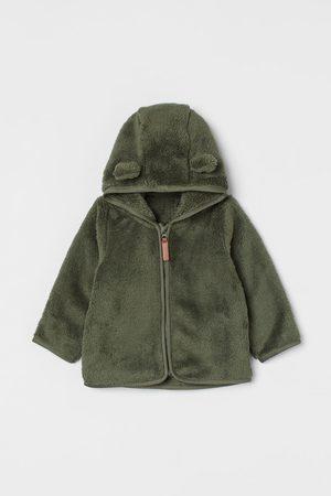 H & M Kids Jackets - Hooded Faux Shearling Jacket