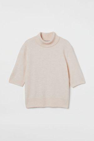 H & M Short-sleeved Turtleneck Top