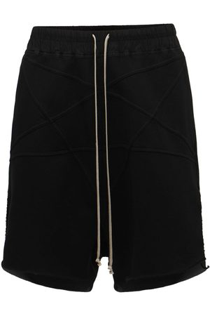 RICK OWENS Pentagram Heavy Cotton Jersey Shorts
