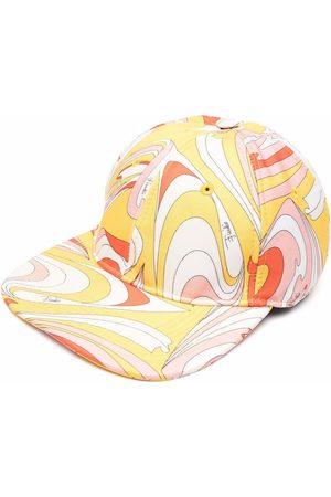Emilio Pucci Caps - Vortici Baby-print twill cap