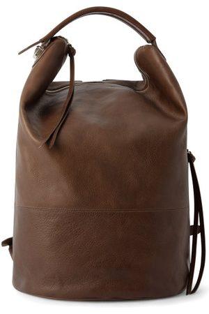 Lemaire Men Rucksacks - Grained-leather Backpack - Mens - Light