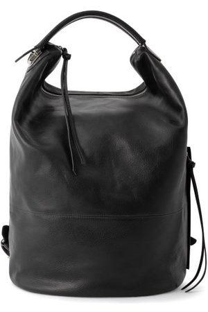 Lemaire Men Rucksacks - Grained-leather Backpack - Mens