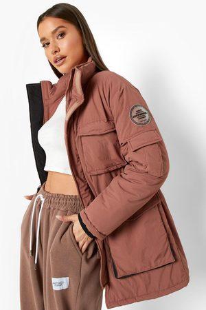 Boohoo Womens Pocket Detail Parka Coat - - 4