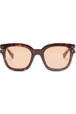 Amiri Square Tortoiseshell-effect Acetate Sunglasses - Mens