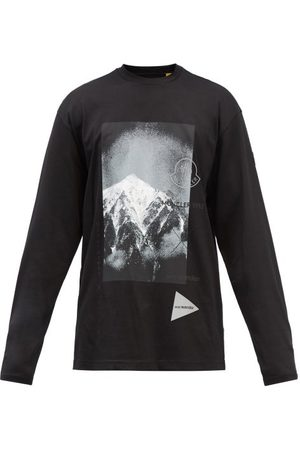 Moncler Logo-print Cotton-jersey Long-sleeve T-shirt - Mens