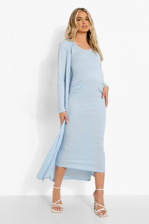 Boohoo Womens Maternity Recycled Sleeveless Midaxi And Duster - - 4