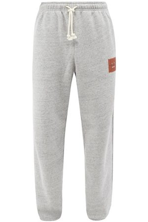 Acne Studios Men Sweatpants - Basketball-face Jersey Track Pants - Mens - Grey