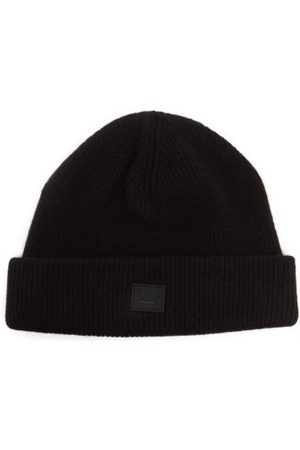 Acne Studios Pansy Face-patch Wool Beanie Hat - Mens