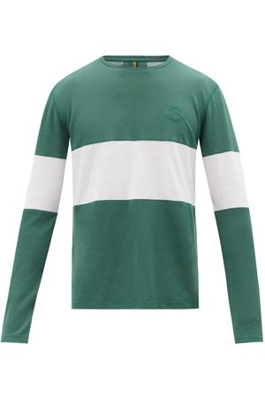 Iffley Road Men Long Sleeve - Hove Striped Technical-jersey Long-sleeve T-shirt - Mens
