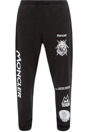 Moncler Logo-print Cotton-jersey Track Pants - Mens