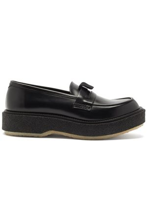 ADIEU PARIS Raised-sole Leather Penny Loafers - Mens