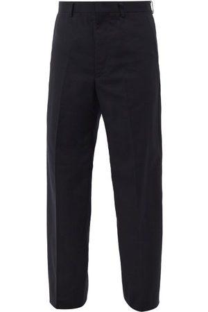 JUNYA WATANABE Men Wide Leg Pants - Wide-leg Twill Trousers - Mens - Navy
