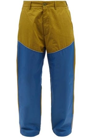 Moncler Men Pants - Bi-colour Cotton And Nylon-shell Trousers - Mens