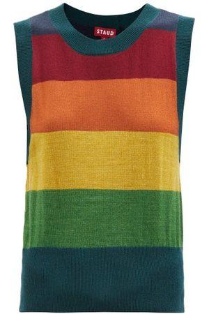 Staud Women Tank Tops - Gretel Colour-block Wool-blend Vest - Womens - Multi