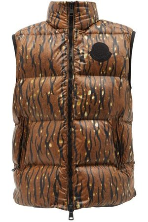 Moncler Sumida Camouflage-print Quilted Nylon-laqué Gilet - Mens