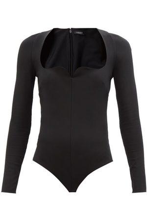 VERSACE Sweetheart-neckline Jersey Bodysuit - Womens