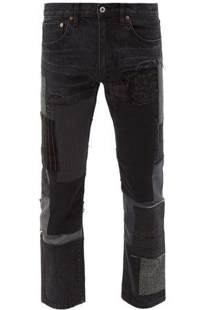 JUNYA WATANABE Men Straight - Patchwork Straight-leg Cropped Jeans - Mens
