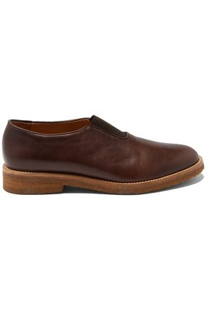 Jacques Arthus Leather Slip-on Loafers - Mens - Dark