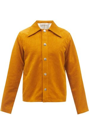 Séfr Men Leather Jackets - Trust Spread-collar Faux-suede Jacket - Mens - Dark