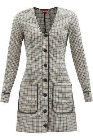 Staud Fairham Checked Blazer Mini Dress - Womens - Multi
